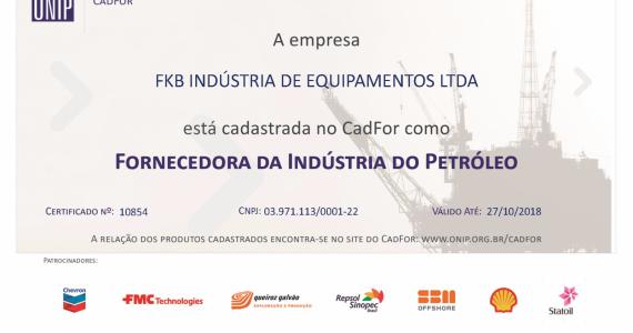 [FKB proveedora de la Indústria del Petróleo]